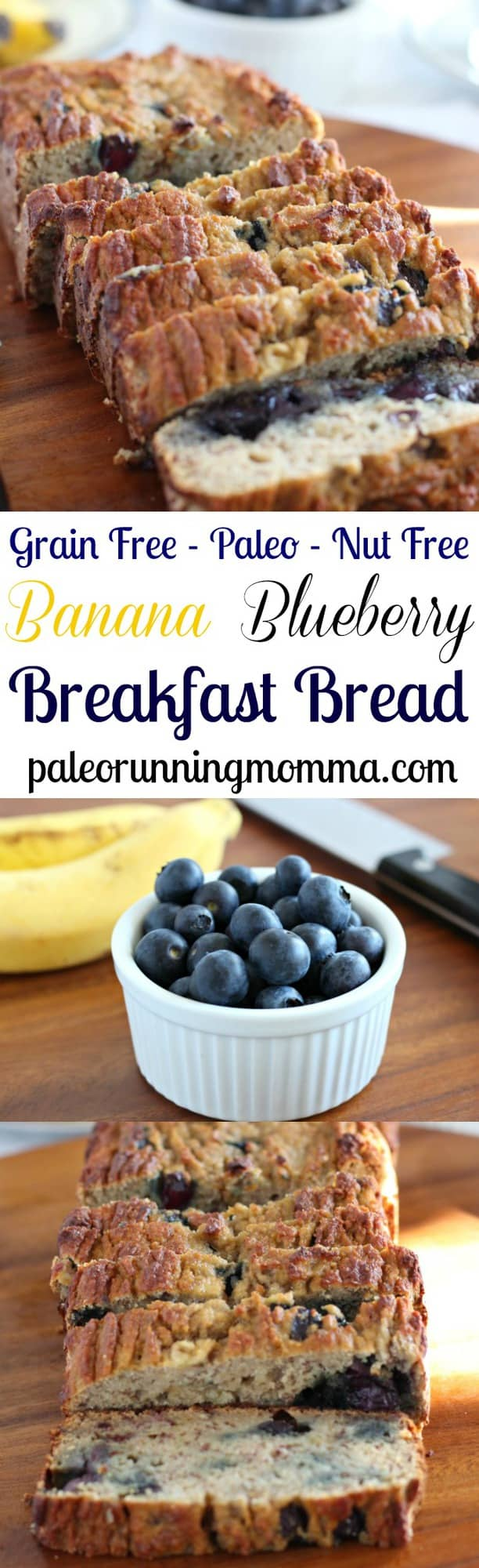 ... Blueberry Breakfast Bread that's #paleo and #nutfree! #grainfree