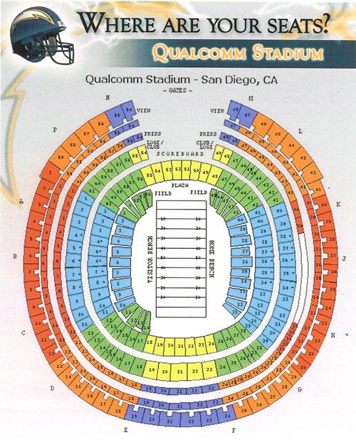 Qualcomm Stadium Seating Chart With Seat - Arenda-stroy on