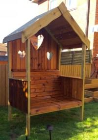 Pallet Wooden Garden Gazebo Bench | Pallet Furniture Projects.