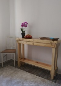 Wooden Pallet Recycled Side Table | Pallet Furniture Projects.