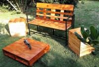 Reclaimed Pallets Garden Furniture Set | Pallet Ideas