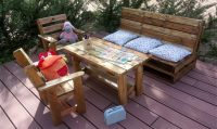 Kids Outdoor Furniture Made with Used Pallets | Pallet Ideas