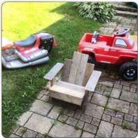 Childrens Adirondack Pallets Chair | Pallet Ideas ...