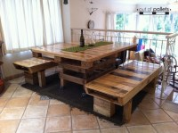 Dining Table Out of Pallets Wood | Pallet Ideas: Recycled ...