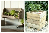 Wood Pallet Garden Planters | Pallet Ideas: Recycled ...