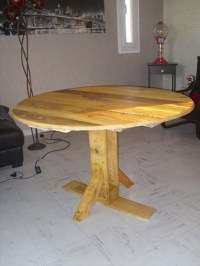 Pallet Kitchen Round Table | Pallet Ideas: Recycled ...