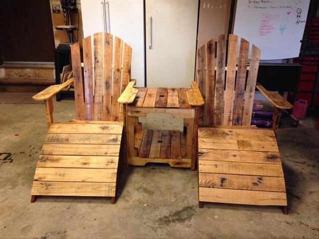 Pallet Footstool Footrest Chairs Pallet Ideas