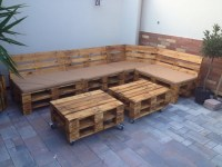 Pallet Patio Furniture with Planters | Pallet Ideas ...