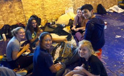 Paly students hard at work on floats for 2016 homecoming