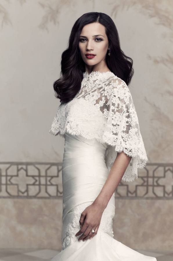 Paloma Blanca Cape Style 212 | French Lace Cape