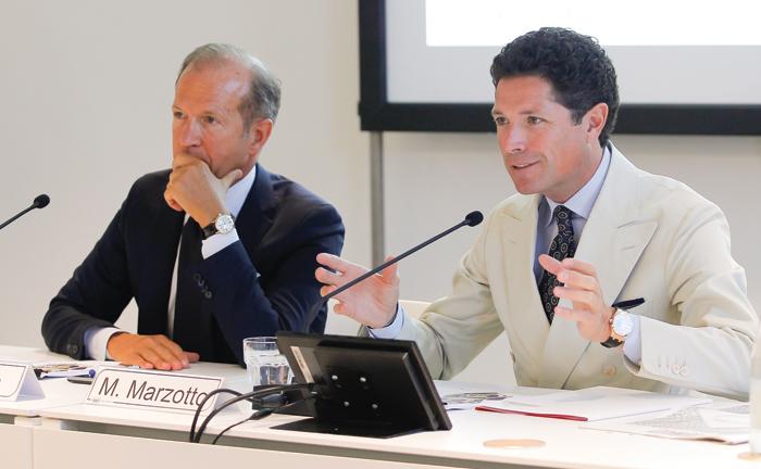 Corrado Facco, direttore generale di Fiera di Vicenza., e Matteo Marzotto, presidente di Fiera di Vicenza  {focus_keyword} Gioielli all'esame tempo VICENZAORO R September 2016