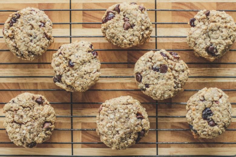 cookies quinoa aveia chia