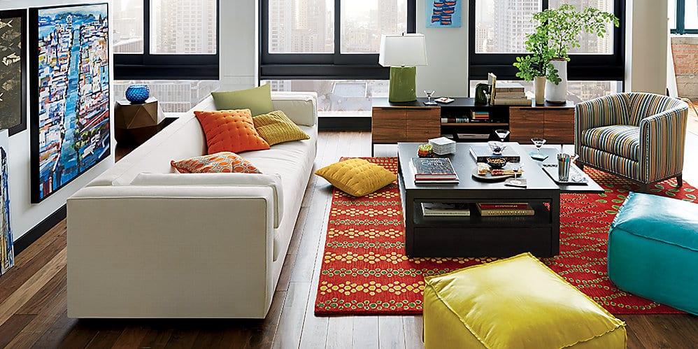 10-1 crate and barrel living room - Pamela Sandall Design - crate and barrel living room