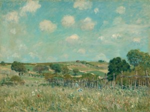 Alfred Sisley, Meadow, French, 1839 - 1899, 1875, oil on canvas, Ailsa Mellon Bruce Collection