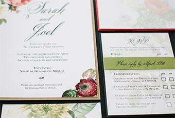 Wedding Invitations: Romantic Floral