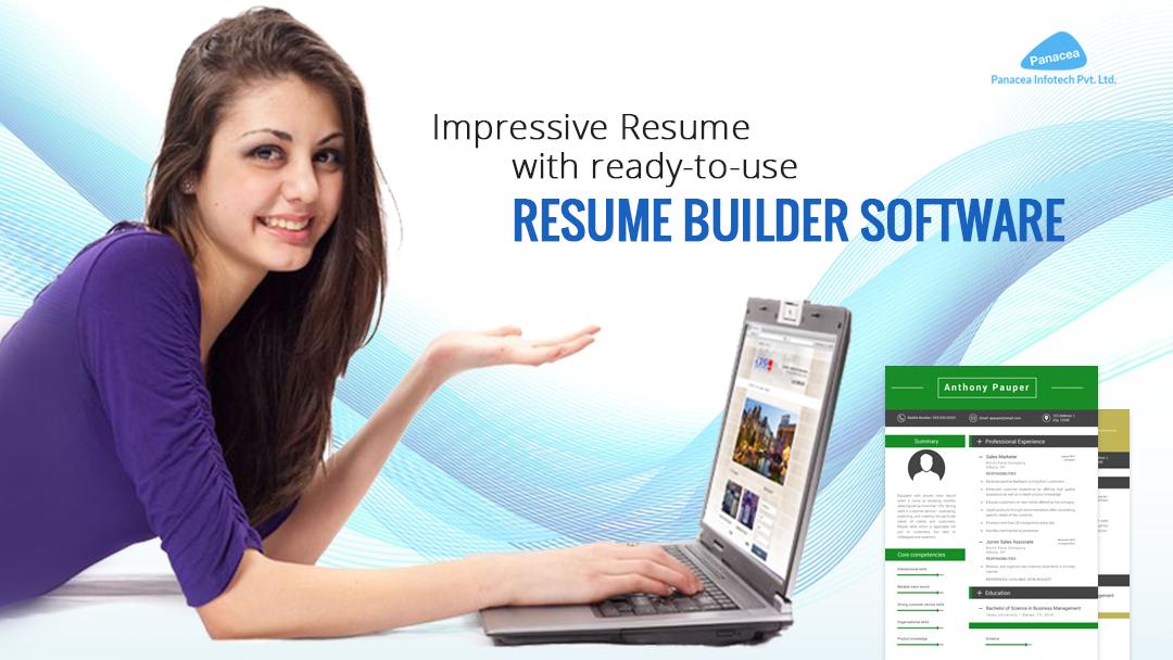 Impressive Resume Builder Software Online Panacea Infotech