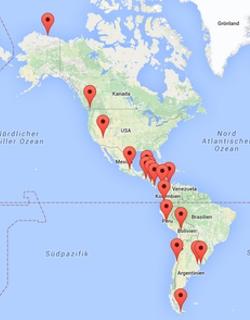 Unsere Route auf der Panamericana