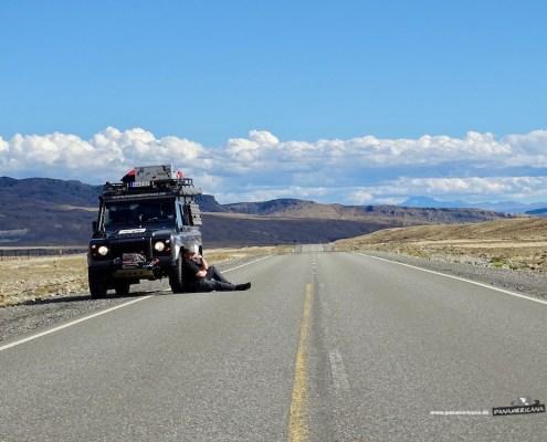 Nicht so viel los auf der Ruta40 in Argentinien.