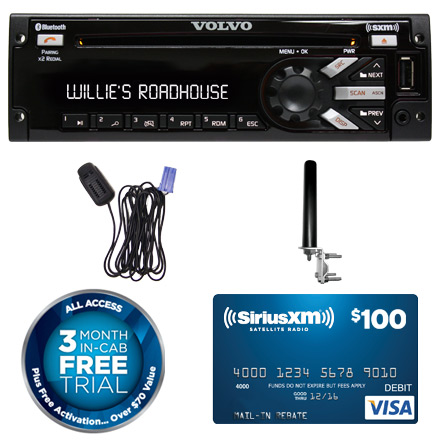 VOLVO PP105482 AM/FM/MP3/WMA/WB CD Player with Integrated SiriusXM