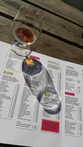 The beer menu at Boudewijn