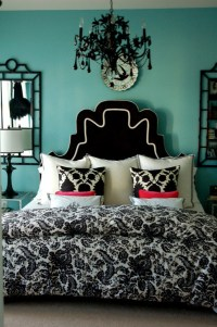 Black and Turquoise Bedroom - Panda's House