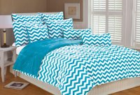 Chevron Bedding in Turquoise and White - Panda's House