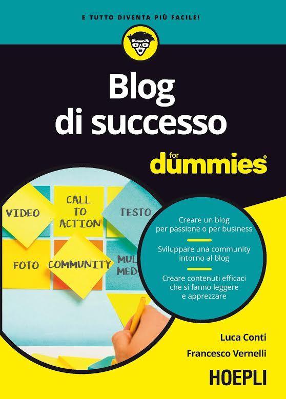 blog di successo for dummies la copertina