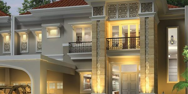desain rumah mewah klasik bergaya mediterania