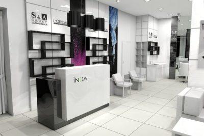 Ruko Minimalis Interior Salon Kecantikan