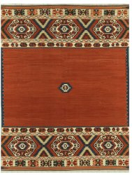 Modern Tribal Design - Rust and Multi Colored area rug
