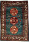 Khotan premium wool vegetable-dyed in reds and green
