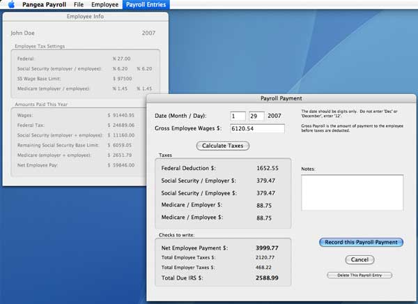 Pangea Software Pangea Payroll Home Page - payroll tax calculator