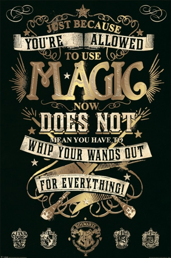 Iphone 5 Wallpaper Dimensions Harry Potter Posters Harry Potter Magic Poster Pp33920