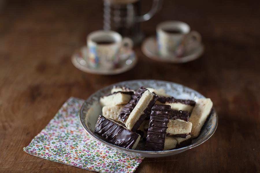 Shortbread au chocolat ou comment un lundi c'est permis se transforme en mardi!