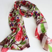 Recycled fabric scarves, Indian fashion by Pankaj Indian