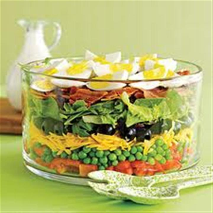 Seven layer salad Recipe | Panlasang Pinoy Recipes