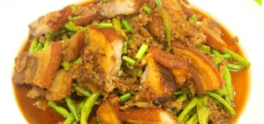 Adobong Sitaw with Lechon Carajay