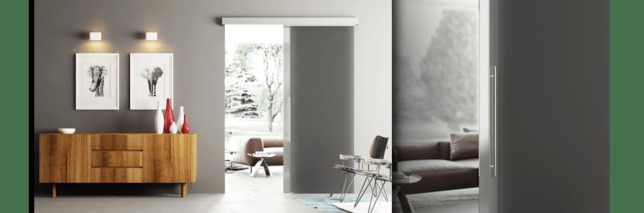 Porte scorrevoli in vetro per interni in - Porte di vetro scorrevoli per interni ...