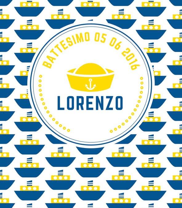 Battesimo Sailor Man per Lorenzo