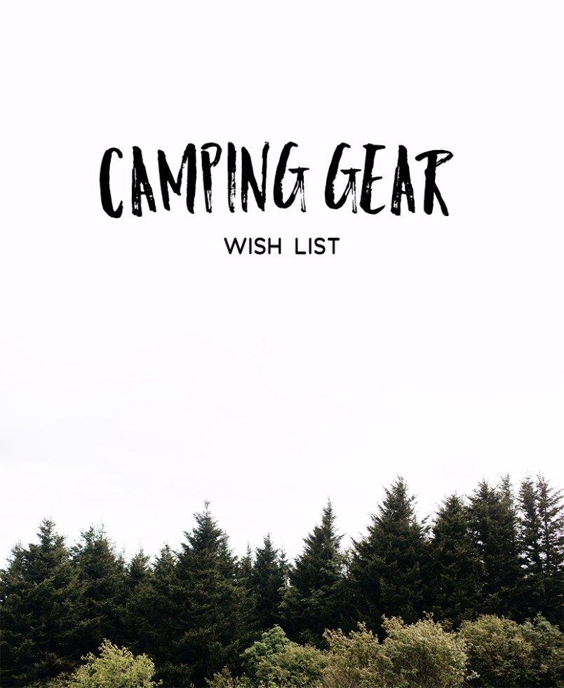 First Camping Trip Wishlist
