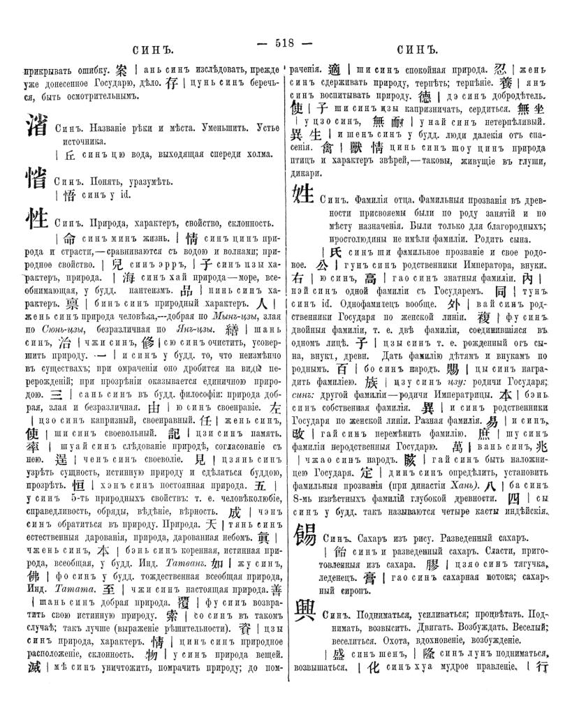 страница из словаря Палладия
