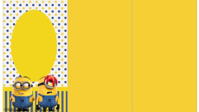 Invitación para Fiesta de Minions imprimir gratis - plantillas para invitaciones gratis