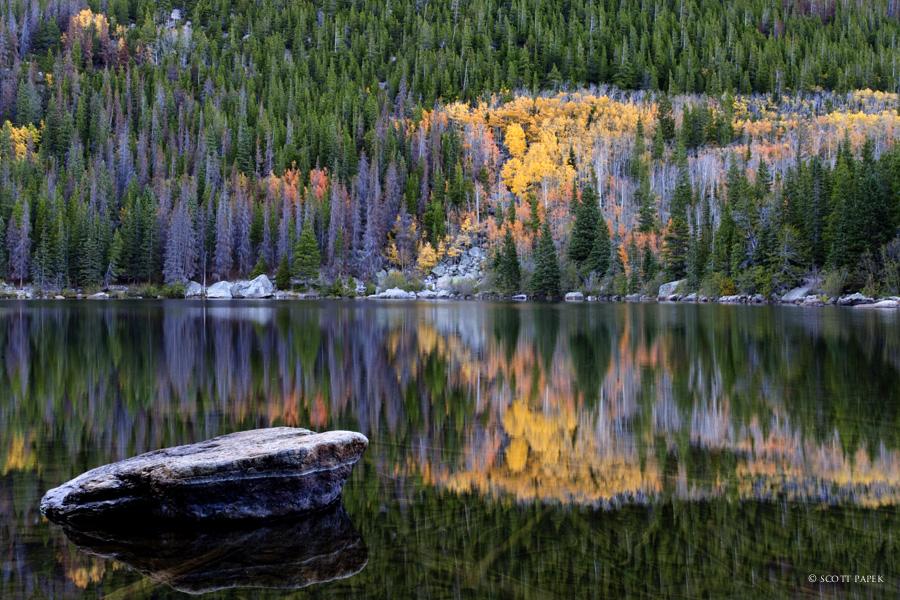 Fall Backgrounds Wallpaper At Night Bear Lake Reflections Estes Park Colorado Scott Papek