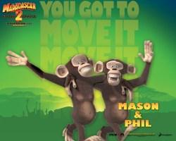 Papel de parede 'Madagascar: Phil e Mason'