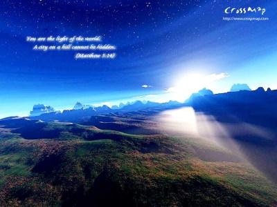 Papel de Parede Mateus 5:14 Wallpaper para Download no Celular ou Computador PC