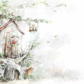 Papel de parede 'Árvore de Conto de Fadas'