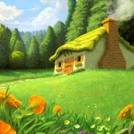 Papel de parede 'Casa de Bonecas'
