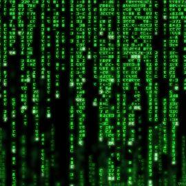 Papel de parede 'Código Matrix'