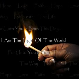 Papel de parede 'Eu sou a luz do mundo'