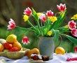 Papel de Parede Flores no Vaso